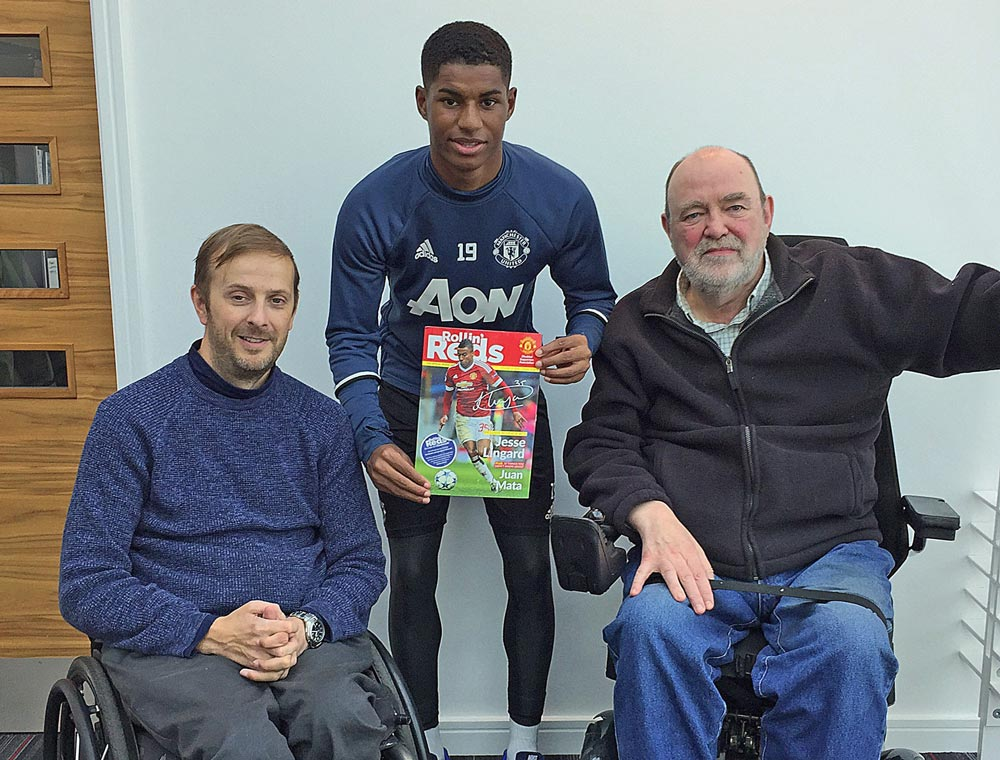 Marcus Rashford Interview Mudsa Manchester United Disabled Supporters Association